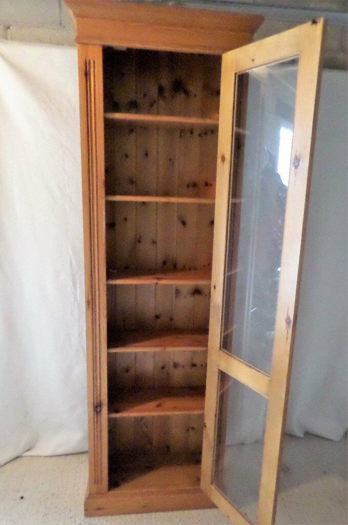 Pine Glass Cabinet