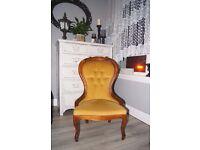 Antique Vintage Armchair / Bedroom Chair