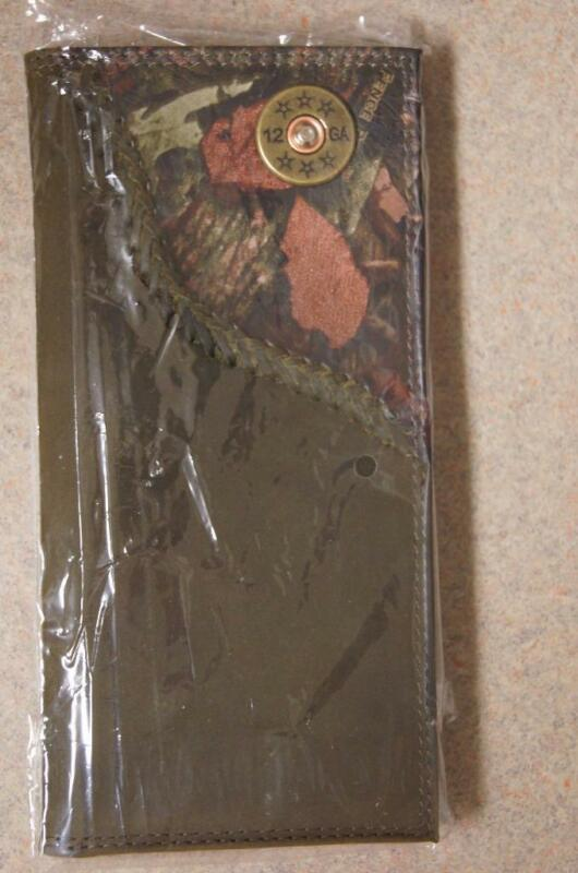 ZEP-PRO 12 gauge SHOTGUN SHELL Roper Leather Fence Row Camo Wallet ONLY NO BOX