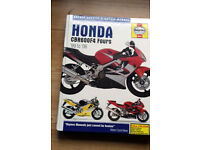 Haynes workshop manual Honda CBR600F4 99 to 06