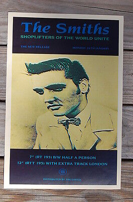 The Smiths Tour Poster 1987 Shoplifters Of The World Unite