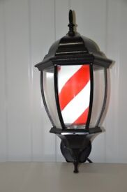 Lantern Barber Pole LED laminated Rotating Stripe Salon Sign Classic with built-in Led light