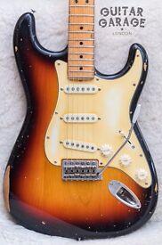 FENDER American Standard Vintage Road Worn Stratocaster Sunburst Nitro guitar - CAN POST!