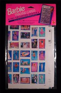 1991 Barbie Trading Card Poster NEW in Sealed Package