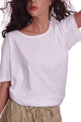 Cc Hughes Womens Ladies Ss Crew Neck White Teal Shirt Top Size Medium Xl Xxl