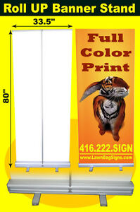 Roll Up Banner Stand 34x80 Slide-in-Top Banner Display !ON SALE!