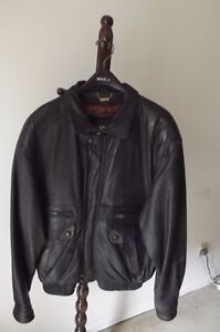FS: Danier Black with Brown Trim Leather Jacket (Man's) London Ontario image 1