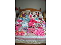 Build a Bear bundle - with 3 bears, 1 cat, 1 dog, pet bed and tonnes of outfits and shoes