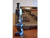 John Lewis 87 Piece Metal Zoom Microscope 300x600x900x1200 With Instructions