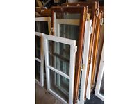 Opening / Hinged Sections of Wooden Double Glazed Window Panels