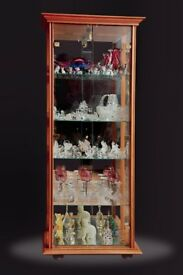 Crystal and Ornament Collection with Display Cabinet