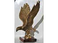 Vintage Solid Brass Eagle Ornament