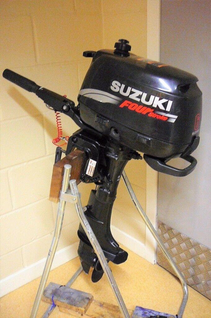 SUZUKI 6hp OUTBOARD ENGINE - SHORT SHAFT - F/N/R GEARS -2005