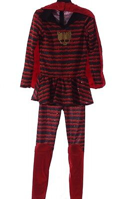 Girls Monster High Halloween Costume Toralei Ghoul Outfit Cape Med Lg  7 14 NEW