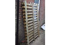 NEW WOODEN Round top Palisade fence panels 6ft x 4ft high £15 EACH. 3 PANELS AVAILABLE.