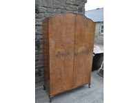vintage 1930s walnut double door wardrobe