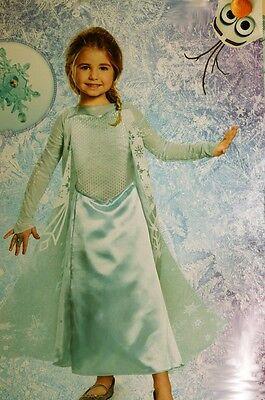 Disney Frozen ELSA Girls Halloween snowflake Costume Dress Ring Purim S 4 6X NEW