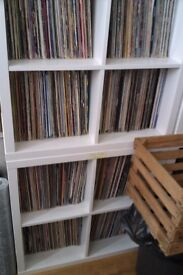 large vinyl record collection house dance rave old skool disco funk soul