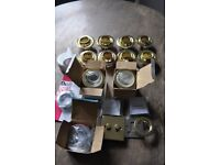 Electrical light fittings - some new or nearly new - downlighters, shower lights, spotlight dimmer