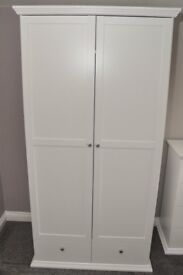 HOME Canterbury 2 Door 2 Drawer Wardrobe - White (New unused)