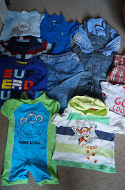 Baby boy clothes size 9-12 months.