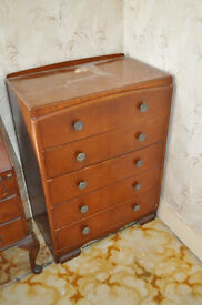 CHEST OF DRAWERS (5 DRAWERS) DARK WOOD