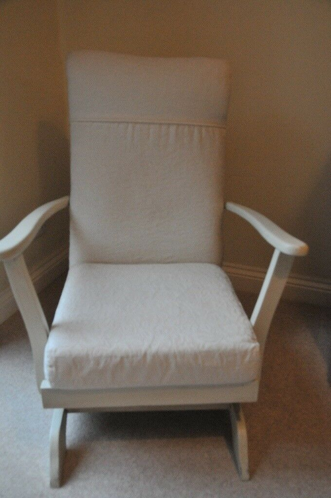 Good quality ROCKING CHAIR - re-upholstered, contemporary style