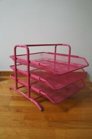 Ikea Dokument - document or filing tray in pink