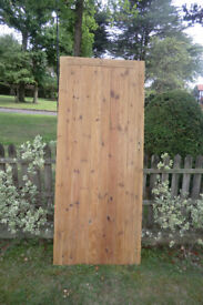 SOLID PINE DOOR - T&G LEDGE AND BRACE, WITH FITTINGS.