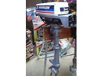 EVINRUDE / JOHNSON 2hp OUTBOARD ENGINE, SHORT SHAFT, TILLER CONTROL