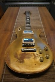 Les Paul gold top/back/neck. Real vintage parts proper relic Kent Armstrong pup 9 pounds weight Wow