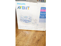 Philips Avent Microwave Steam Sterilizer with Bottles