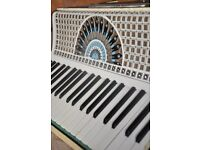 piano accordion, 120 base, 1920s, mother of pearl