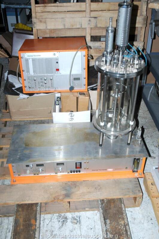Chemap AG Fermenter Bioreactor System FZ2000 CF2000 Glass Reactor