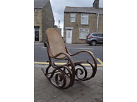 bentwood cane rocking chair