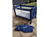 BabyDan Travel Cot - Blue