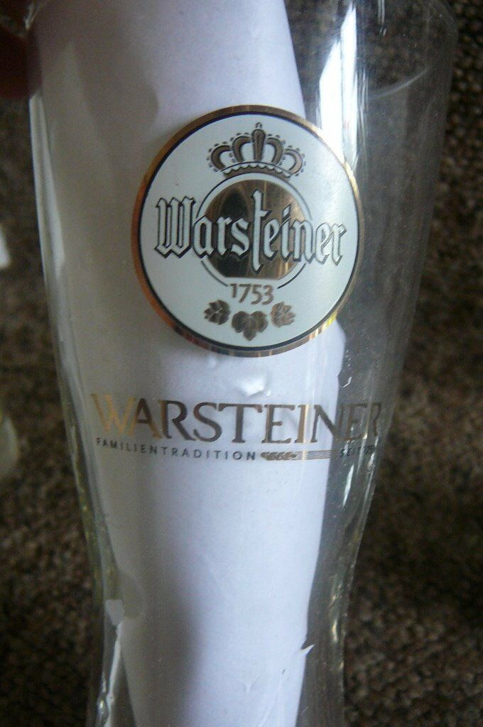 GERMAN WARSTEINER PILSNER BEER GLASSES PINT2 each BARGAINin Southampton, HampshireGumtree - GERMAN WARSTEINER PILSNER BEER GLASS Pint size. Excellent condition Gold finishes around the logos...and on the rear. A Good solid glass Fab for home bar or man cave Also have 1/2 pint available £1.50 each COLLECT FREEMANTLE Check out the prices on...
