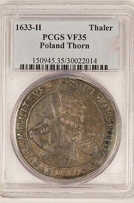 Click now to see the BUY IT NOW Price! POLAND 1633 H THALER CITY OF THORN! PCGS VF35 -  !