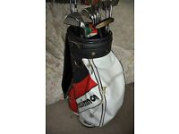 """Prosimmon"" golf clubs and bag"
