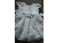 Lovelly Baby Girl Dress size 12-18 months. Ivory.