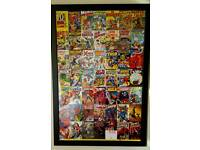 Framed Marvel 70th anniversary poster