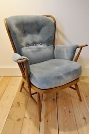 Vintage retro 60's Ercol Evergreen Grandmothers armchair golden dawn - Free Local Delivery