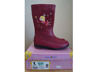 Girls Leather Boots Startrite Twinkletoes Pink Size 12.5 F / EU31 NEW