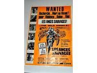 ORIGINAL BELGIUM FILM POSTER OF THE WILD ANGELS LOOKS STUNNING