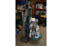 Makita Mitre saw on Wheeled saw stand
