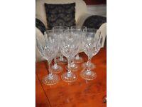 24 Edinburgh Crystal Glasses, Set sizes 2-8. Red White wine, Brandy. Champagne. Decanter.