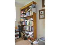 Pine wood free standing book shelf