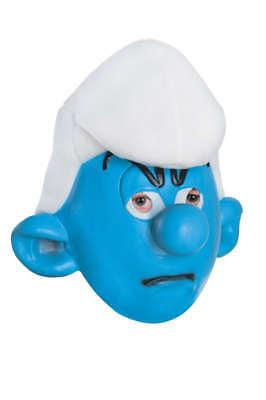 Jungen Kind die Schlümpfe Les Schtroumpes Griesgram Grouchy Maske Kostüm Zubehör