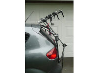 Bike rack. Halfords rear high mount 3 cycle carrier. VGC.