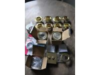 Job lot NEW and NEARLY NEW light fittings - downlights, shower lights, spotlight, switches etc